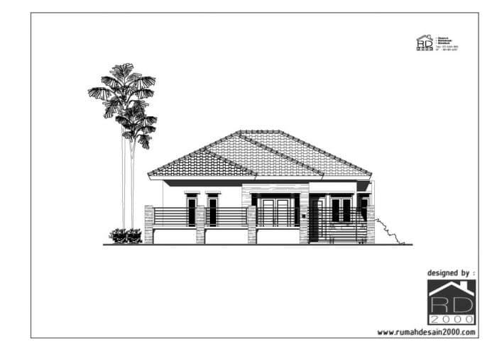 Gambar Desain Rumah Minimalis Tropis Tampak Depan