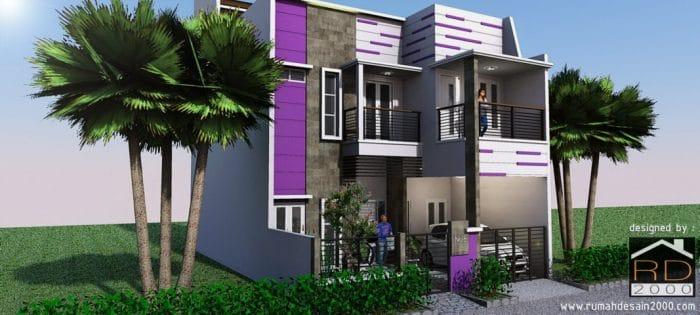 rumah minimalis dengan nuansa ungu rumah desain 2000