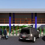 Desain Tempat Parkir Motor Di Areal Pabrik