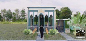 Gambar 3D musholla Al-Ishlah tampak depan