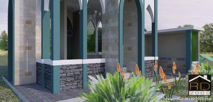 Gambar Tampak Perspektif Gambar 3D Musholla Al-Ishlah