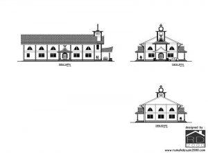 Tampak-2D-Gereja-HKBP-Kabupaten-Siak-300x221 Bangunan Project Lists Rumah ibadah   - Jasa desain rumah - Rumah Desain 2000