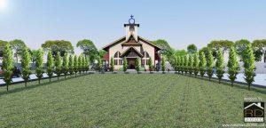 Tampak-Depan-Gereja-HKBP-kabupaten-siak-300x144 Bangunan Project Lists Rumah ibadah   - Jasa desain rumah - Rumah Desain 2000