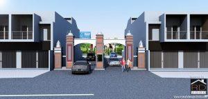 Tampak-Gapura-Gereja-HKBP-nuansa-melayu-300x144 Bangunan Project Lists Rumah ibadah   - Jasa desain rumah - Rumah Desain 2000