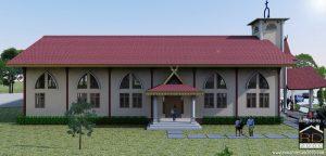 Tampak-Samping-Kiri-rumah-ibadah-nasrani-300x144 Bangunan Project Lists Rumah ibadah   - Jasa desain rumah - Rumah Desain 2000