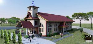 Tampak-perspektif-1-gereja-HKBP-dengan-nuansa-melayu-300x144 Bangunan Project Lists Rumah ibadah   - Jasa desain rumah - Rumah Desain 2000