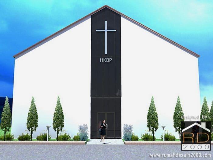 Desain Gereja HKBP Bandung – Modern Minimalis