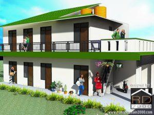 rumah kost sederhana dengan konsep minimalis - rumah