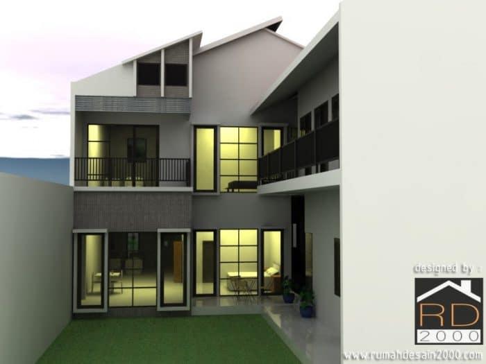 Desain Rumah Minimalis Modern Asimetris
