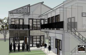 desain rumah minimalis modern asimetris - rumah desain 2000