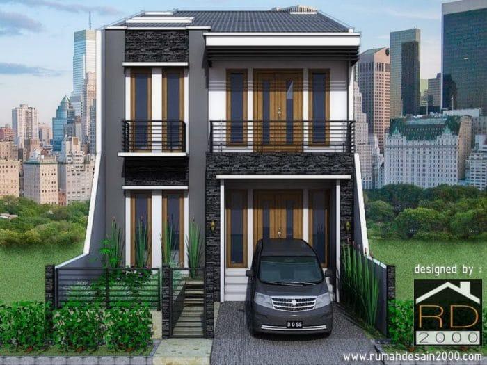 Gambar Desain Rumah Minimalis Duren Sawit Tampak Depan
