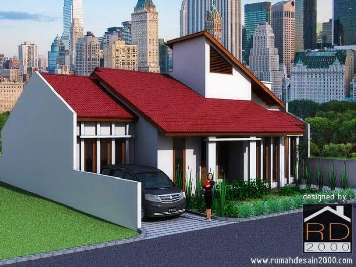 Gambar Rumah Minimalis Bogor Tampak Perspektif