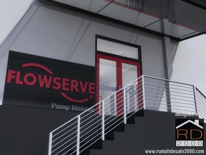 Gambar Tampak Close Up Renovasi Pabrik Flowserve