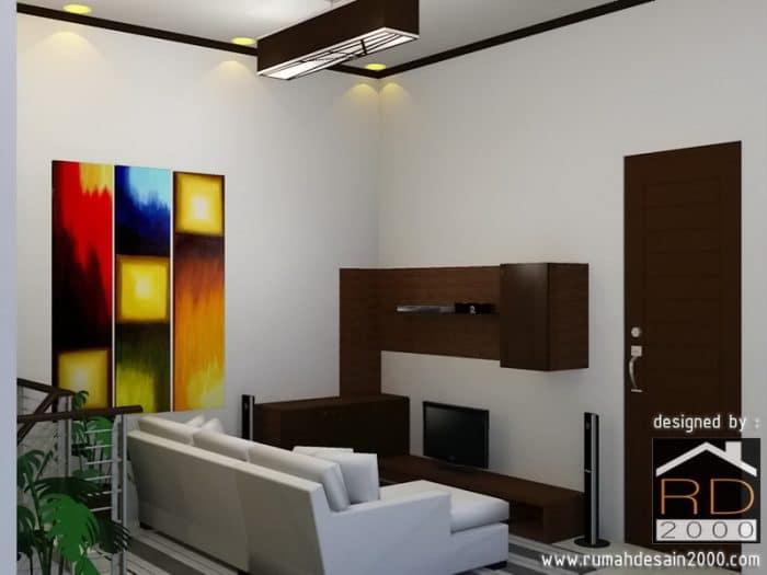 Desain Interior Ruang Keluarga Dengan Kesan Minimalis