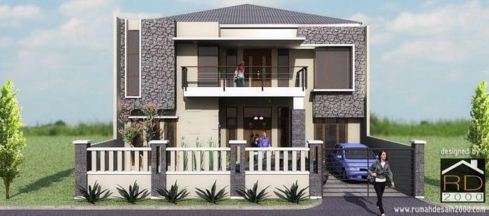 Tampak Depan Gambar Prelimary Design Rumah