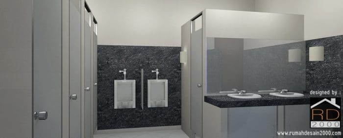 Desain Interior Toilet SMUN 61 Jakarta