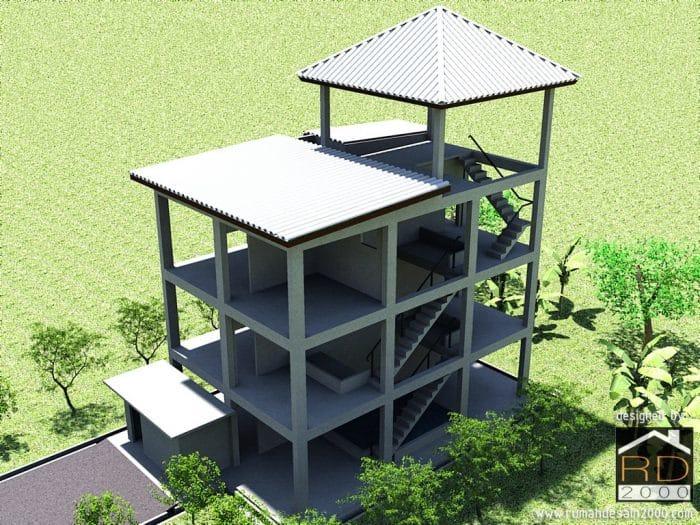 Gambar Desain 3D Rumah Walet Part 2