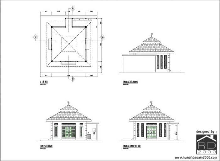 Desain Mushola Sederhana Didaerah Tangerang