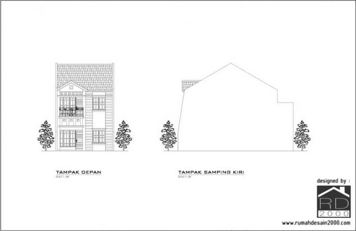 Gambar Konsep Desain Rumah Klasik Kontemporer Cawang