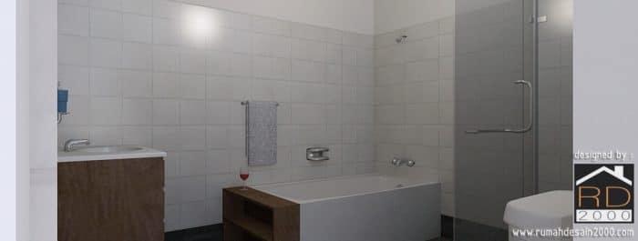 gambar desain interior kamar mandi kelapa gading