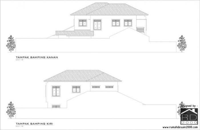 gambar tampak samping renovasi rumah