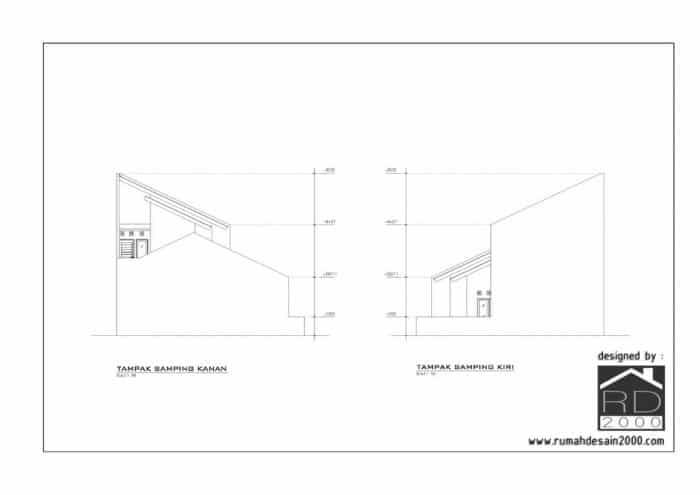 gambar desain renovasi rumah BTN Sumatera utara tampak samping