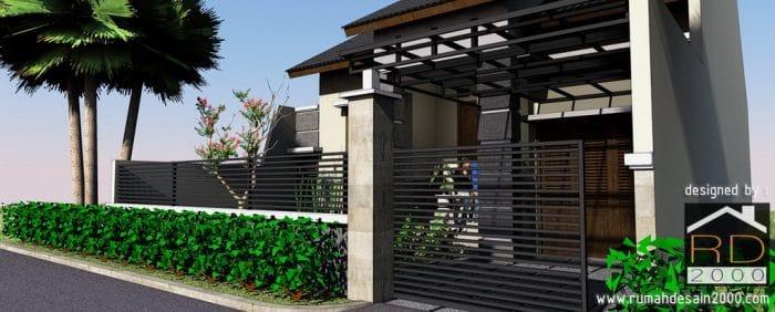 gambar preliminary design rumah Ibu Mara tampak perspektif 2