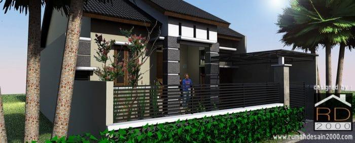 Gambar Tampak Perspektif Preliminary Design Rumah Ibu Mara