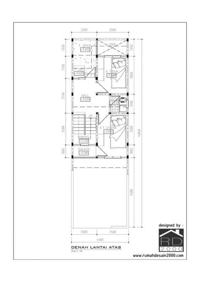 gambar enah lantai atas desain rumah mungil minimalis gratis