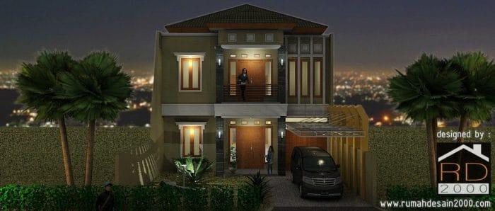 Desain Rumah Minimalis Kontemporer Berlokasi Di Bandung