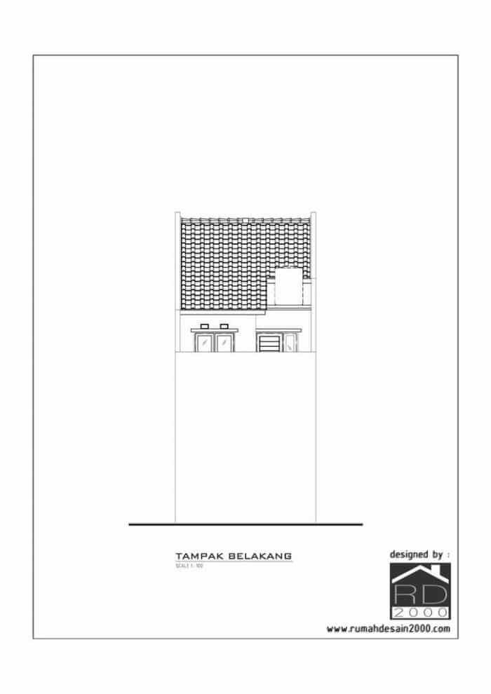 gambar desain rumah mungil minimalis gratis tampak belakang