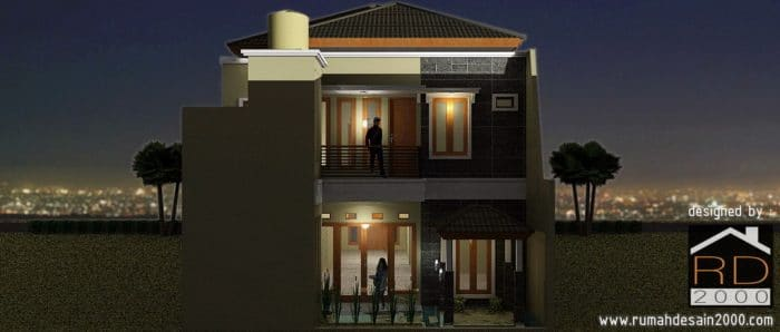 gambar tampak belakang rumah minimalis kontemporer bandung