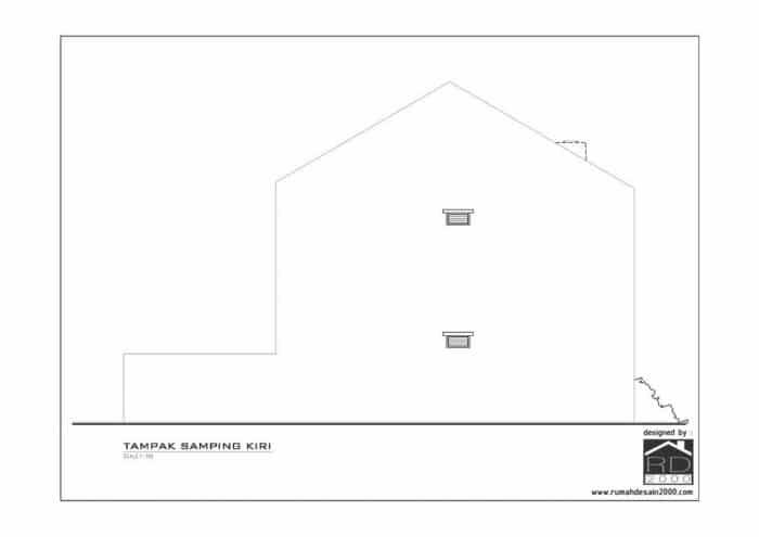 gambar tampak samping desain rumah mungil minimalis gratis