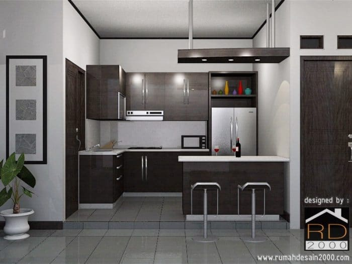 Gambar Alternatif Warna Dapur Minimalis