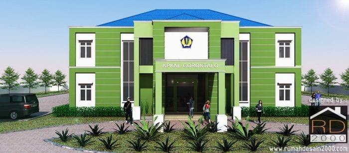 gambar renovasi gedung kantor KPKNL Tampak depan