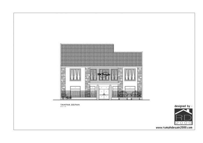 Gambar Tampak Depan Desain Rumah Makan Darajat