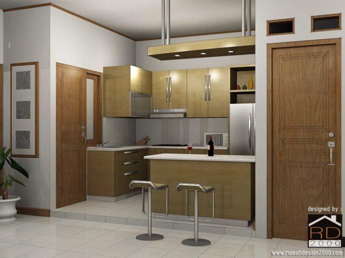 gambar tampak perspektif desain dapur minimalis