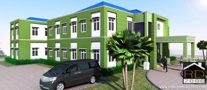 Gambar Tampak Perspektif Renovasi Gedung KPKNL