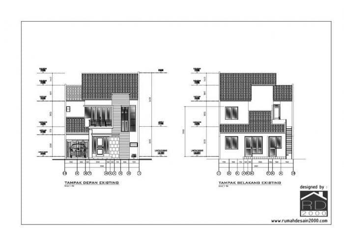 gambar fasad eksisting renovasi rumah tinggal