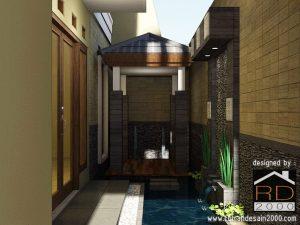 Taman Minimalis Dengan Kolam Di Bandung Rumah Desain 2000