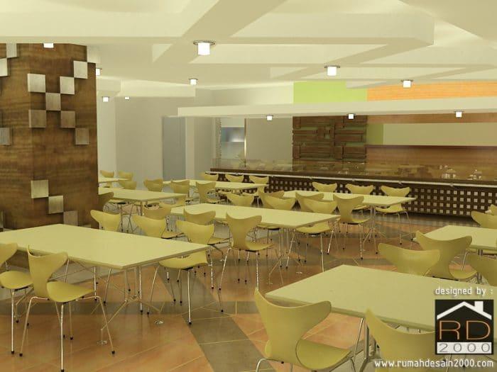 Gambar Tampak Perspektif Desain Cafetaria Danone