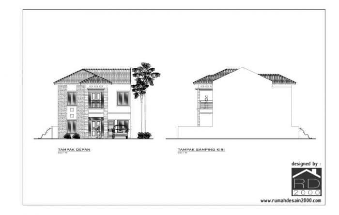 Gambar Konsep Tampak Desain Rumah 2 Lantai