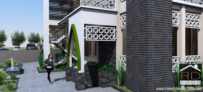 gambar Tampak close up desain masjid modern