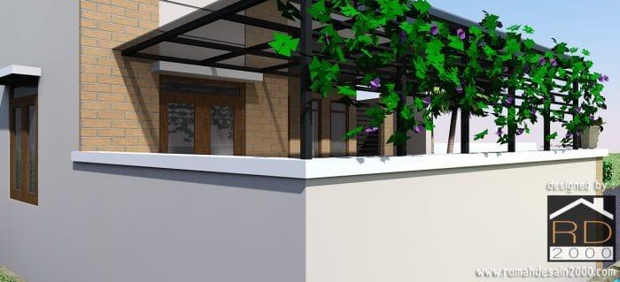 gambar Desain rumah minimalis 2 lantai tampak close up