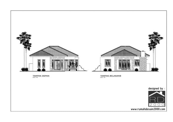 gambar Konsep desain rumah minimalis tropis