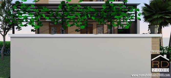 gambar Tampak close up 2 rumah minimalis 2 lantai