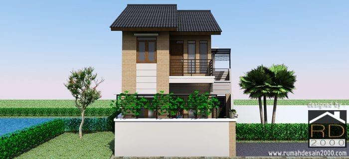 Tampak Depan Rumah Minimalis 2 Lantai Rumah Desain 2000