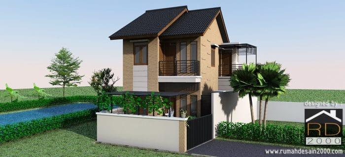 Desain Rumah Minimalis 2 Lantai Dengan Dinding Ekspose