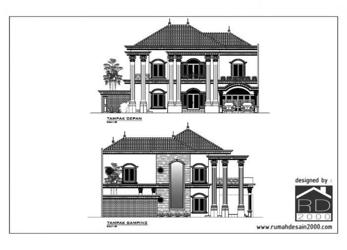 Gambar Tampak Desain Rumah Klasik