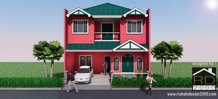 gambar desain rumah unik tampak depan